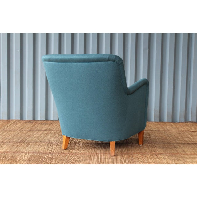 Dark Teal Armchair by Ernest Race, England, 1940s For Sale In Los Angeles - Image 6 of 12