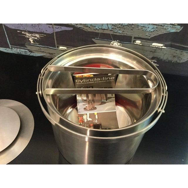 Cylinder-line Arne Jacobsen ice bucket. Made in Denmark Stainless steel