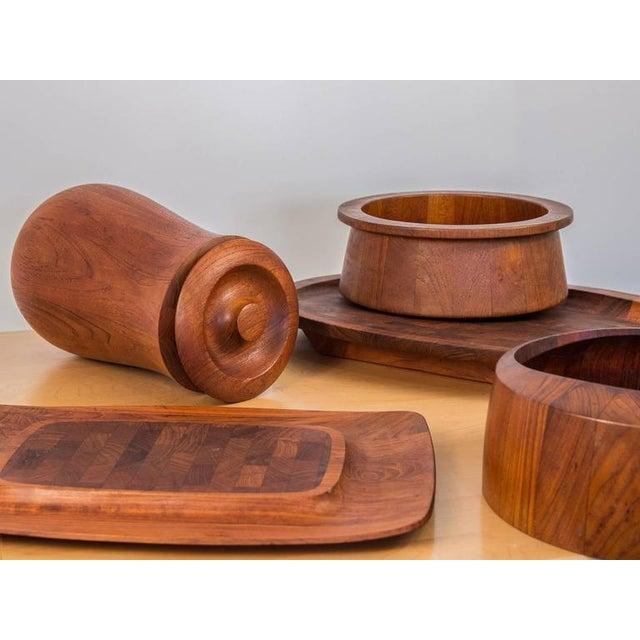 Dansk Designs Jens Quistgaard for Dansk Teak Tableware For Sale - Image 4 of 8