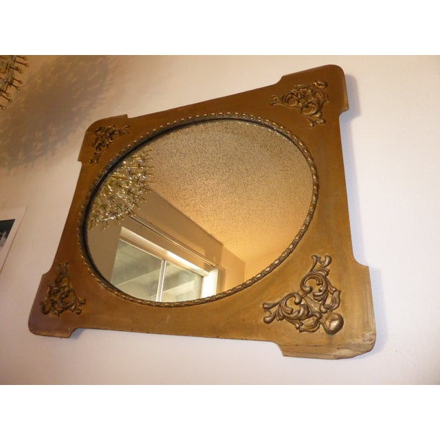 Antique Victorian Style Gold Gilt Floral Carved Wood Wall Mirror For Sale - Image 9 of 11