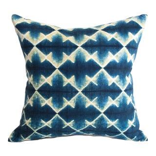 Shibori Blue Diamond Pattern Pillow