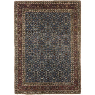 "Hand Knotted Antique Tabriz Haji Jalili Rug - 4'1"" x 5'6"" For Sale"