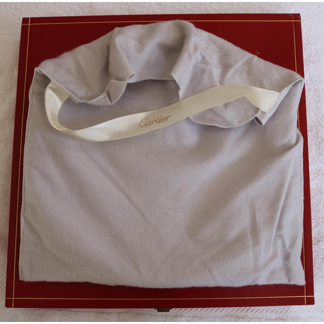 Vintage Cartier polished pewter serving tray from the 1970's. Tray is 11 inches in diameter. It has been kept in the...