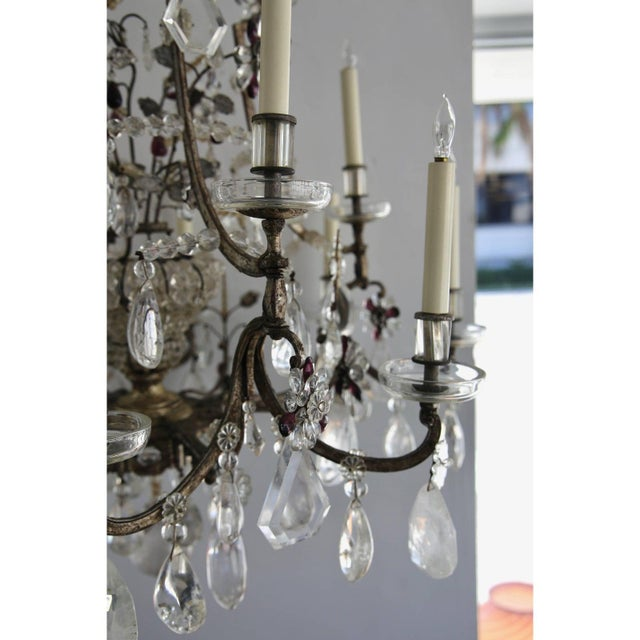 Early 20th Century Louis XV Rock Crystal Chandelier by Maison Baguès Lighting in Paris For Sale - Image 5 of 10