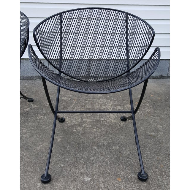 "1960s Vintage Tempestini for Salterini Patio Garden ""Clamshell"" ""Orange Slice"" Chair For Sale - Image 13 of 13"