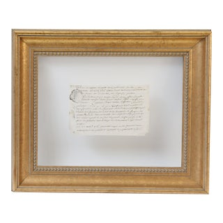 18th Century Vellum Framed French Document For Sale