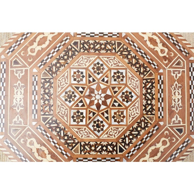 Pair of Middle Eastern Moorish Inlaid Drink Tables For Sale - Image 10 of 13