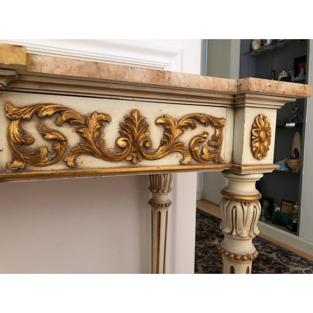 Paint 20th Century Vintage Karges Louis XVI Style Console Entry Table For Sale - Image 7 of 12