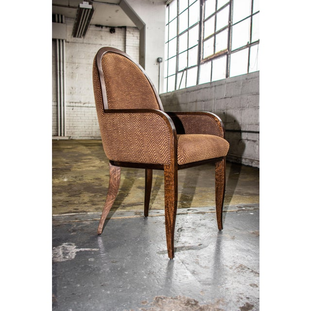 2010s Oak Arm Chair For Sale - Image 5 of 8