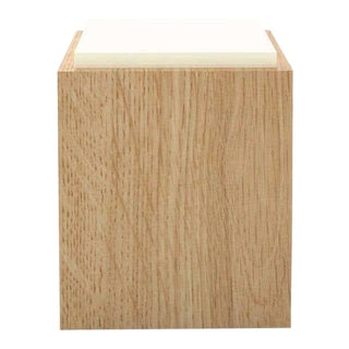 Contemporary 103 Side Table in Oak and White by Orphan Work, 2020