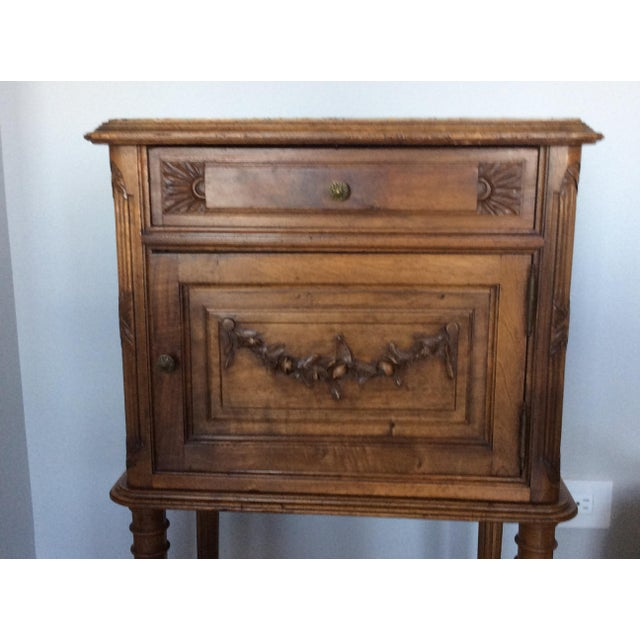 French Antique Louis XV Style Nightstand For Sale - Image 3 of 5