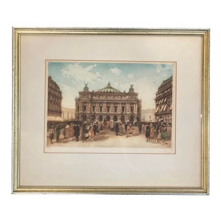 Vintage Set of Six Paris Lithos Signed by Listed French Artist For Sale