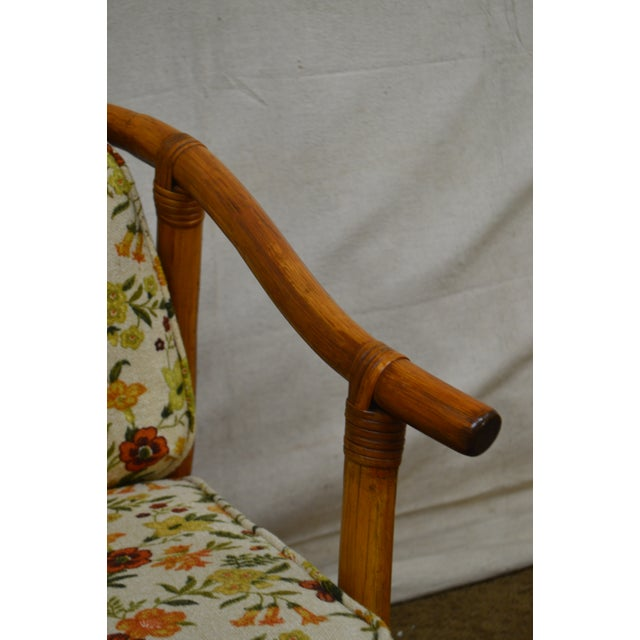Mid-Century Modern Ficks Reed Mid-Century Rattan Lounge Chairs - A Pair For Sale - Image 3 of 13
