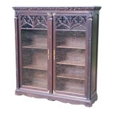 Image of 20th Century Gothic Oak Bookcase For Sale