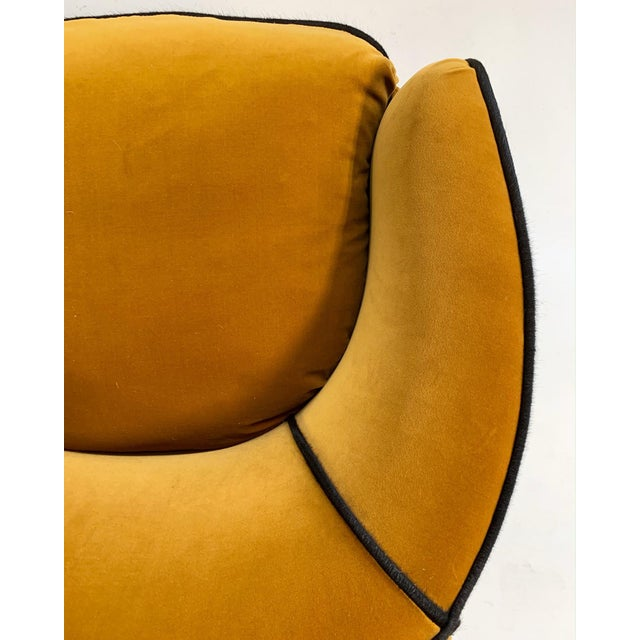 Mid Century Vintage Milo Baughman Velvet With Brazilian Cowhide Welting Lounge Chairs - a Pair For Sale - Image 11 of 13