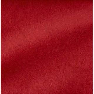 Schumacher Red Velvet Fabric For Sale
