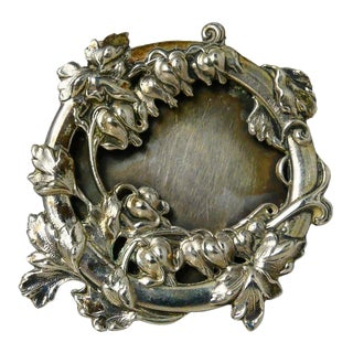 1950s Italian 800 Silver Picture Frame For Sale