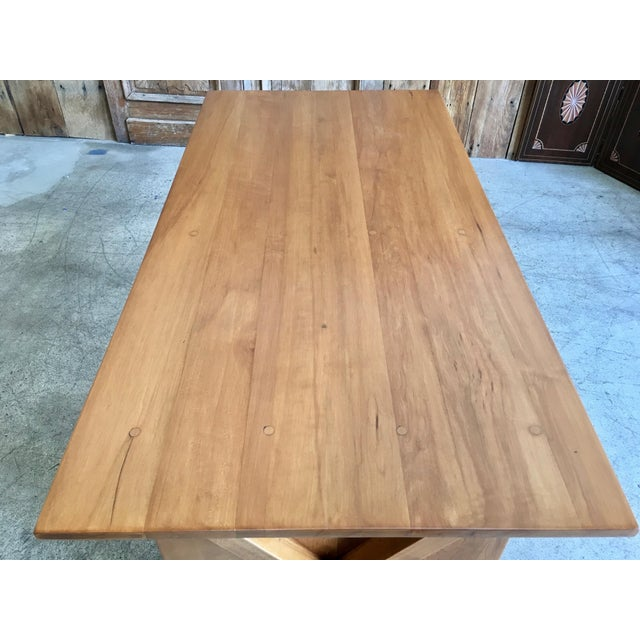 1950's Maple X-Leg Desk With Bookcase For Sale - Image 10 of 13