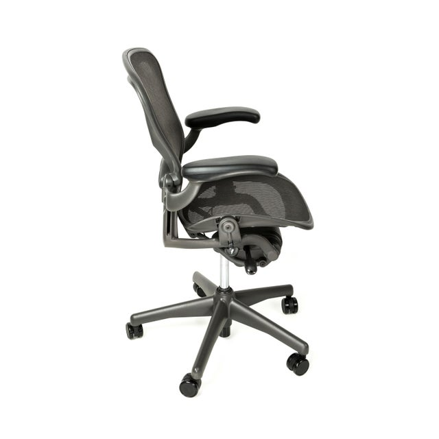 Designed by Chadwick and Stumpf for Herman Miller, the Aeron chair has become an internationally recognized symbol of...