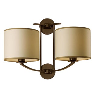 Glasgow Penny Bronze Wall Light With Double Shade For Sale