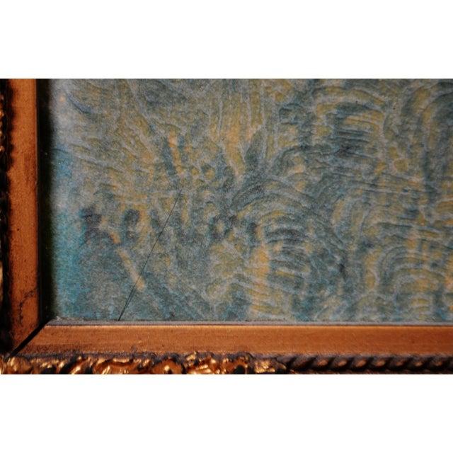 """Vintage Gold Gilt Framed Renoir """"Boating on the Seine"""" Print on Board For Sale - Image 10 of 13"""