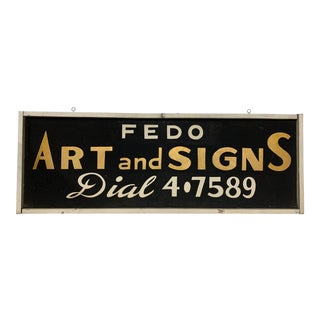 Antique Sand Painted Trade Sign For Sale