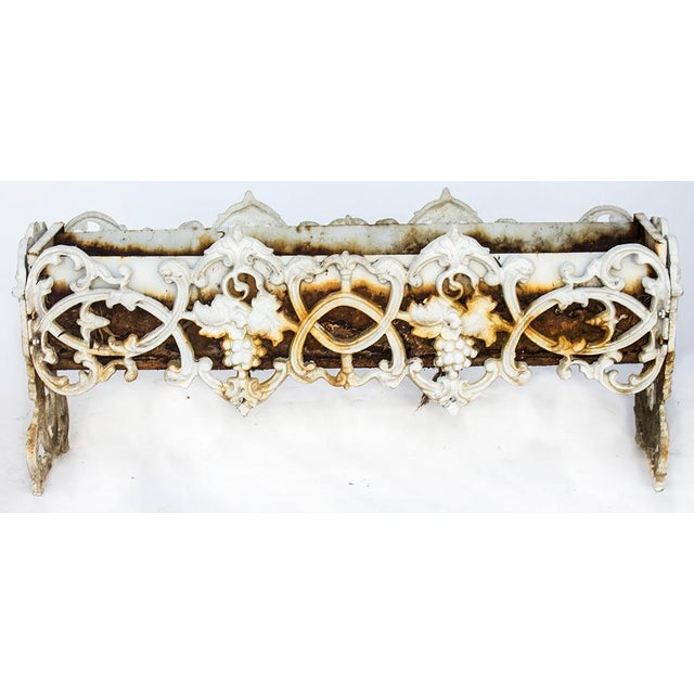 Metal Antique Rusty Cast Iron Rectangular Planter For Sale - Image 7 of 7