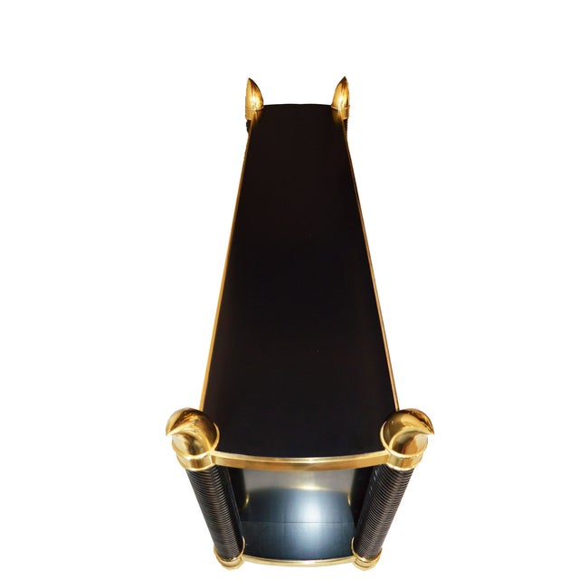 Black Lacquer Hollywood Regency Cabinet by Weiman - Image 2 of 6