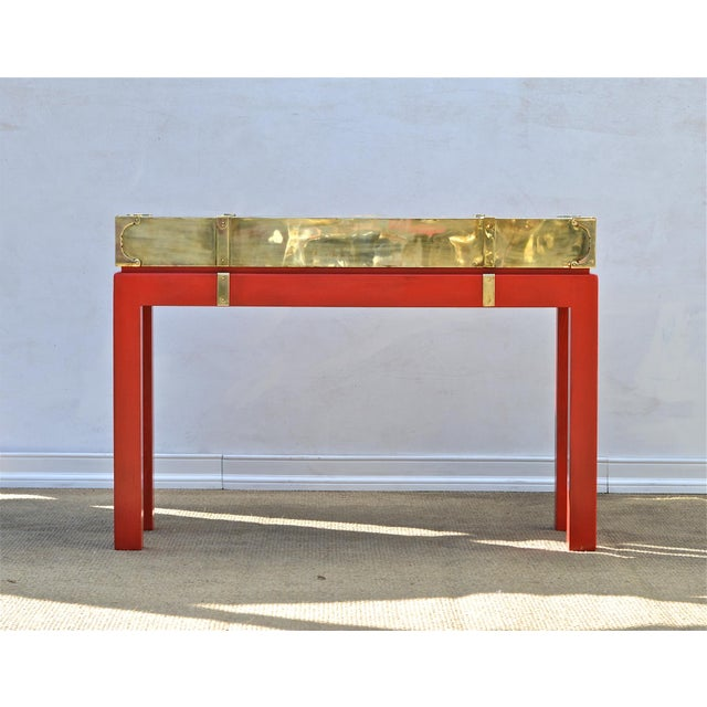 Brass Campaign Style Console - Image 2 of 11