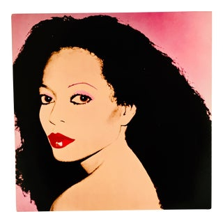 Vintage Diana Ross Record Art by Andy Warhol For Sale
