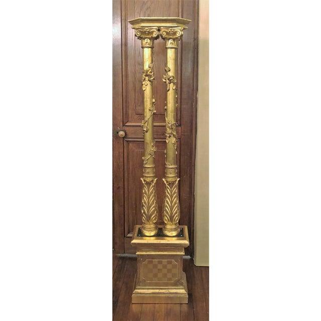Set of 4 Antique 19th Century Florentine Gold Columns, Circa 1850. For Sale - Image 4 of 4