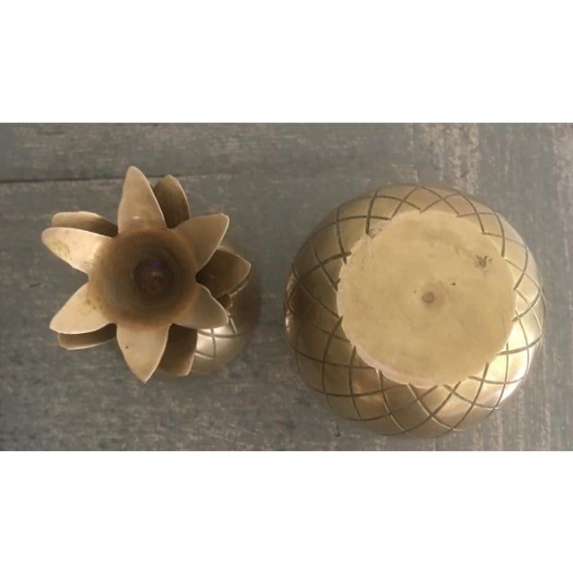 Brass Pineapple Trinket Box For Sale - Image 4 of 6