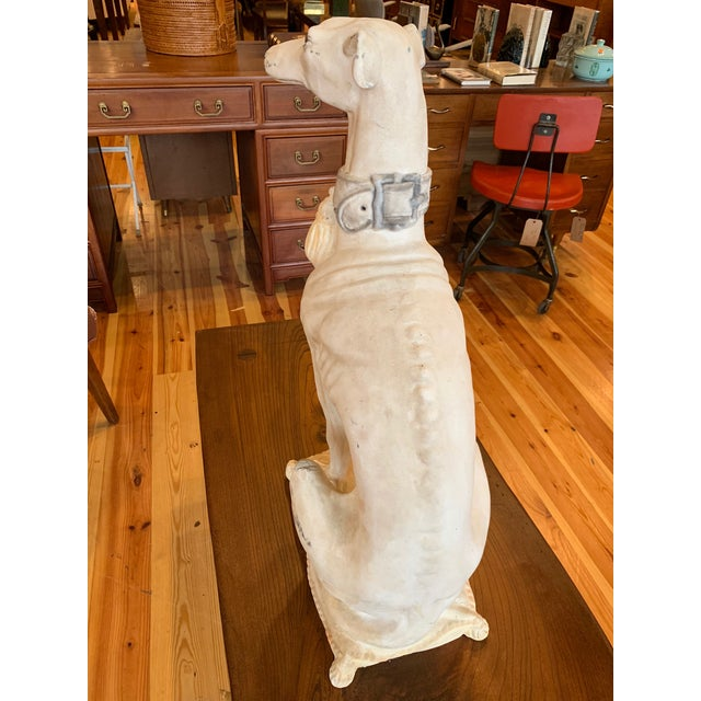 Hollywood Regency 1950s Vintage Italian Whippet Statue For Sale - Image 3 of 10