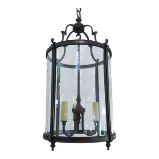 Traditional Classic Bronze Lantern For Sale