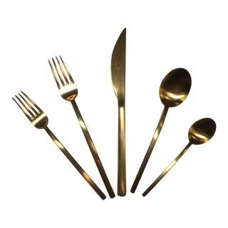 Mepra Due Ice Oro Flatware - Set of 5