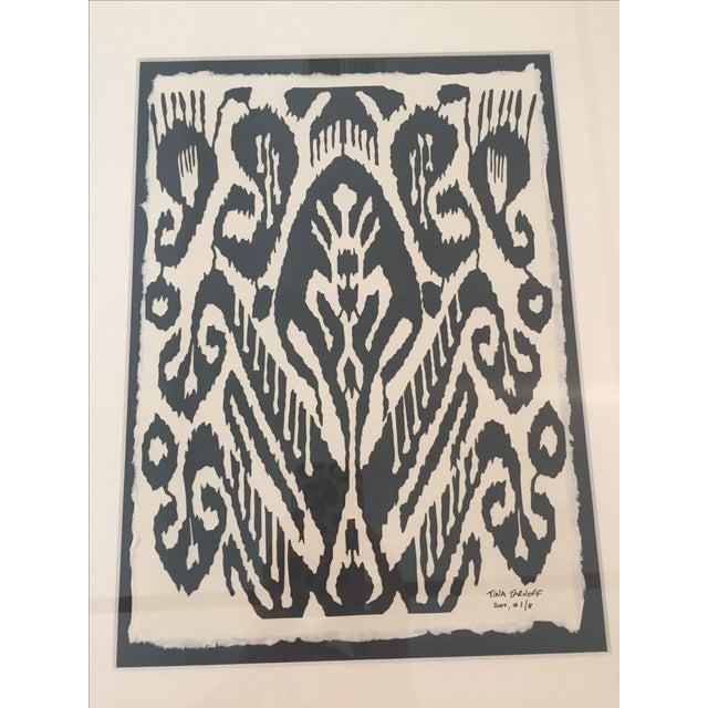 Framed Ikat Handmade Art - Pair of 2 - Image 5 of 10