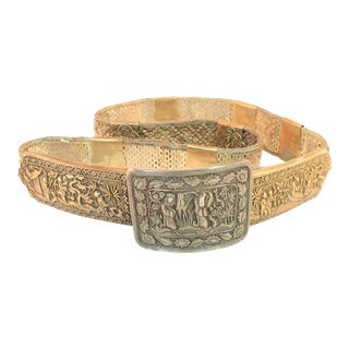 Early 19th Century Asian Silver Belt, China 1830s For Sale