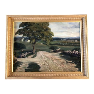 Vintage Impressionist Landscape Painting 1936 For Sale