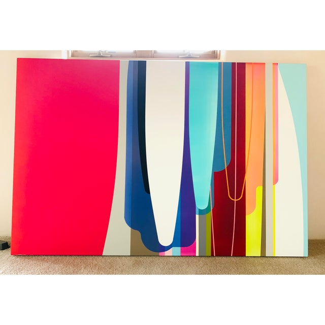 Accelerator, an Acrylic Painting by by Dion Johnson For Sale - Image 9 of 9