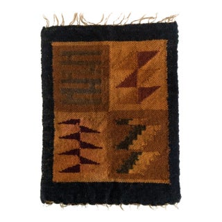 Peruvian Incan Calendar in Earth Tones Wall Hanging / Placemat For Sale