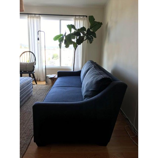 Navy Blue Custom Sofa - Image 5 of 8