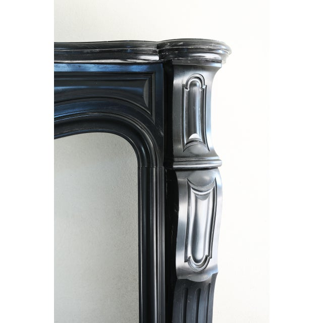Early 19th Century 19th Century, Antique Black Marble Fireplace 'Noir De Mazy', Louis XV For Sale - Image 5 of 11