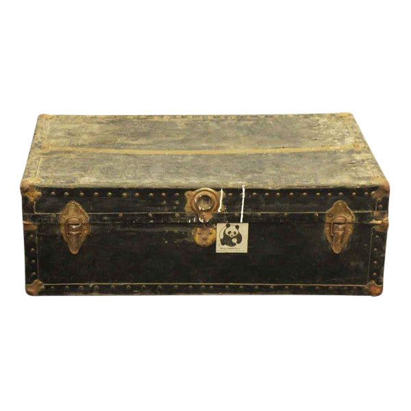 Old Fashioned Travel Trunk - Image 1 of 9