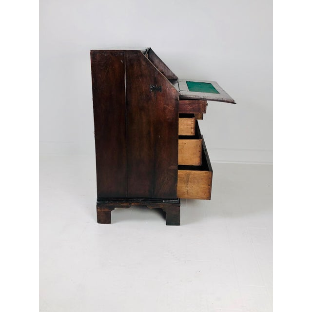 Early Georgian English Oak Slant Front Desk, Circa 1740 For Sale - Image 10 of 11