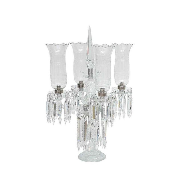 Antique French Regency Baccarat Style Cut-Crystal Girandole For Sale - Image 13 of 13