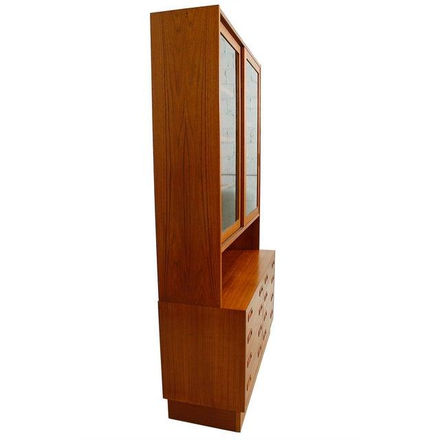 Danish Modern Teak Bookcase Display Cabinet - Image 3 of 8