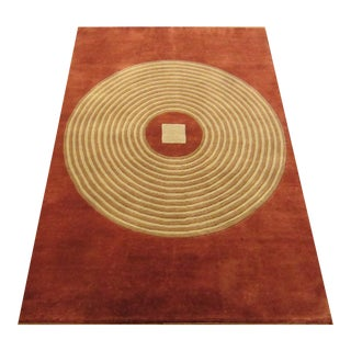 Modern Indian Handwoven Rug - 4'×5'11'' For Sale