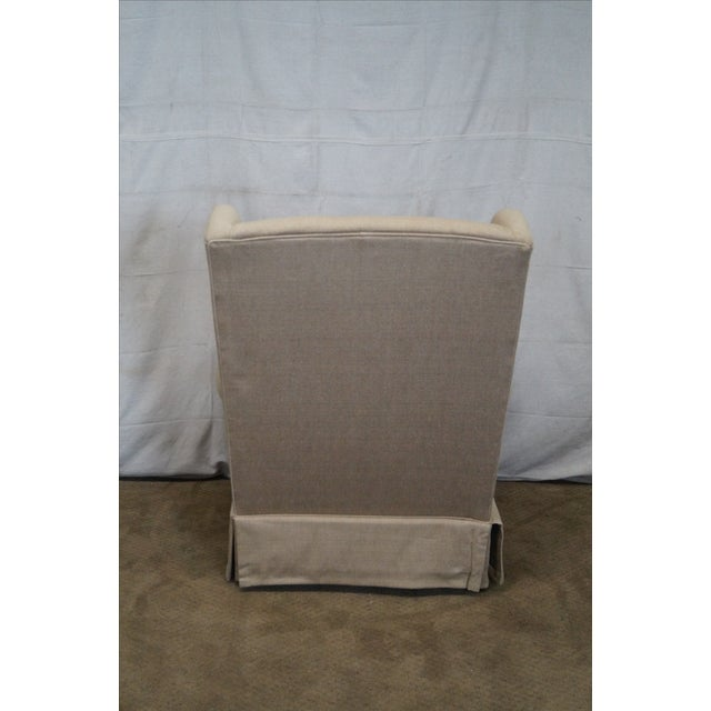 Lexington Tan Upholstered Lounge Chair For Sale - Image 4 of 10