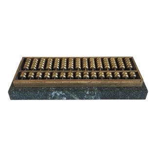 Brass Marble Abacus