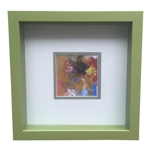 Original Abstract Painting Framed and Matted - Image 1 of 5